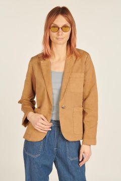 Camel cotton blazer