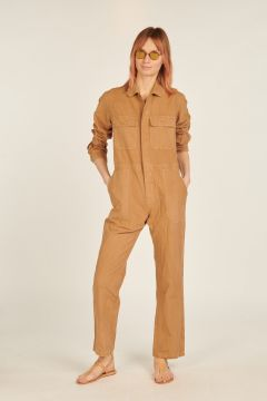Camel one-piece overalls