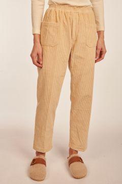 Pantalone Elugo in velluto bianco