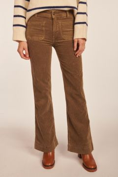 Pantalone Emilius kaki in velluto