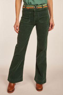 Pantalone Emilius verde in velluto
