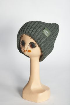 Green ribbed hat