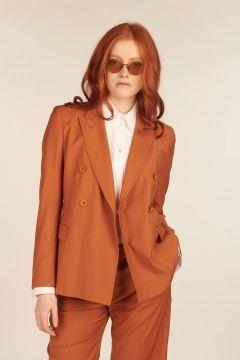 Orange Bice Jacket in Light Wool