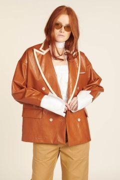Katherine Faux Leather Jacket
