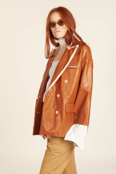 Katherine Faux Leather Jacket