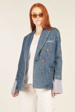 Denim Katherine Double-breasted Jacket