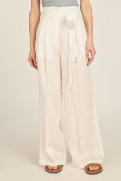 Sophie white linen Pants