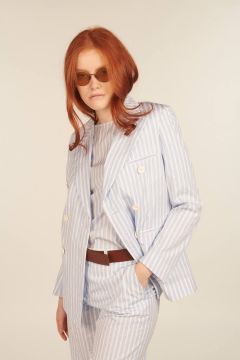 Striped Double-breasted Delia Jacket