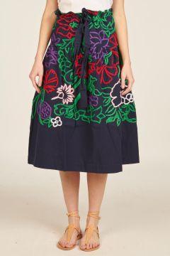 Lata embroidered skirt