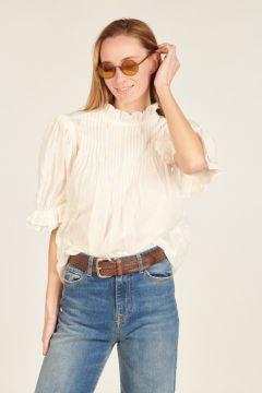 Camicia Pianosa bianca ricamata