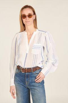 White and Blue striped Pietra shirt