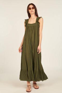 Green tie dye Fillette long dress