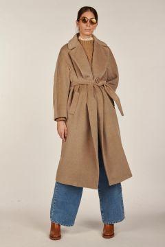 Diego beige long coat