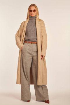 Cardigan lungo beige