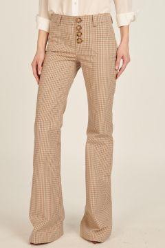 Pied-de-poule Charlotte trousers