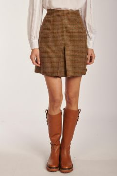 Lequin mini skirt in houndstooth