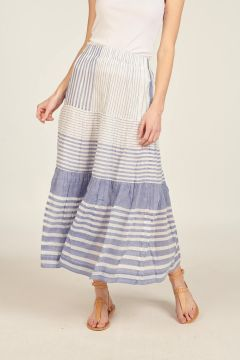 Ipy striped long skirt