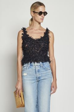 Black decorated top