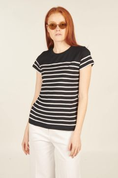 T-shirt Etel blu e bianca
