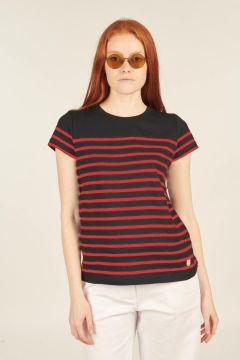 T-shirt Etel blu e rossa