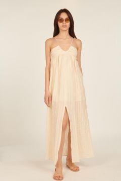 White Agaete long dress