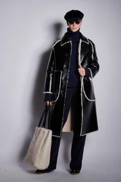 Reversible black coat
