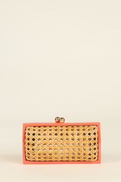 Clutch Farah con bordi corallo