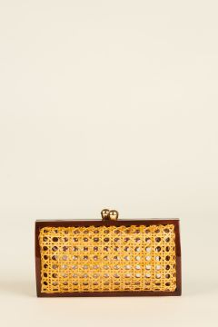 Clutch Farah con bordi marroni