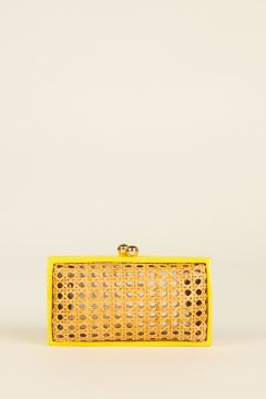 Clutch Farah con bordi giallo fluo