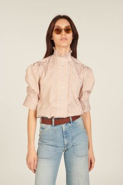 Vita shirt with beige and white stripes