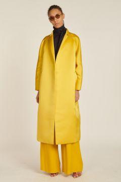 long satin coat
