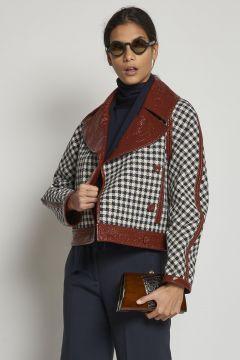 reversible houndstooth jacket