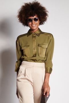 Olive shirt with pockets