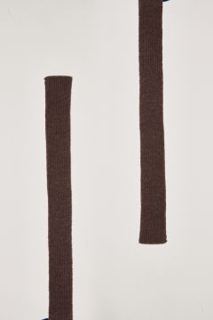 Brown cashmere belt