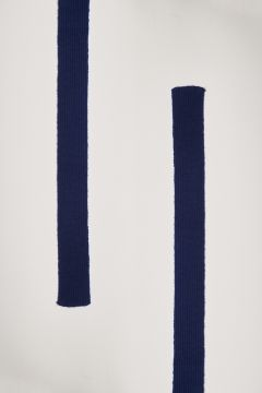Blue cashmere belt