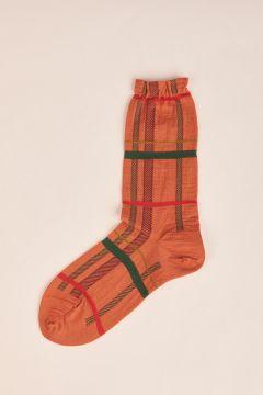 Burnt check socks