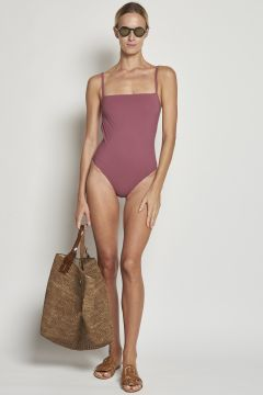 One-piece pink swimwear