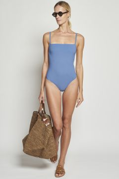 Light blue one-piece swimwear