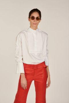 Plastron cotton shirt from Milaura