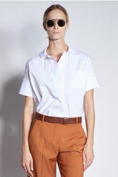 Polo in cotone bianca