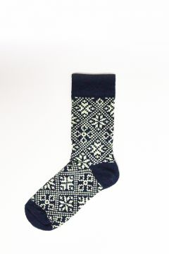 Blue socks with texture