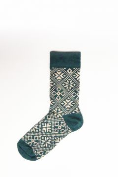 Green socks with texture