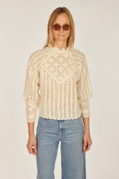Aste crochet sweater