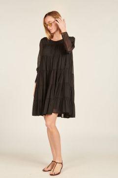Black Cristobal long-sleeve dress
