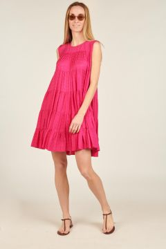 Fuchsia Puffed short dress