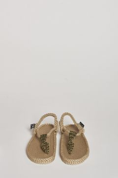beige rope thong sandal
