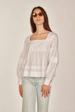 Long sleeves popeline shirt