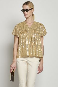 Gold fancy shirt