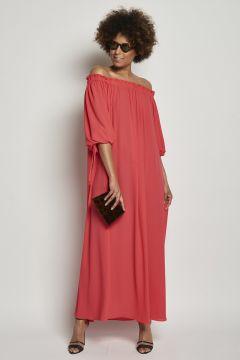 Dress with drawstring
