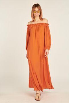 Orange Barbara long dress